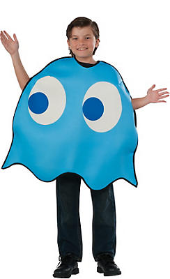 Boys Inky Blue Ghost Costume - Pac-Man