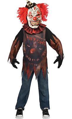 Little Boys Side Show Psycho Clown Costume