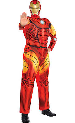 Adult Iron Man Muscle Costume Plus Size