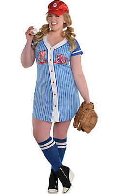 Adult Baseball Babe Costume Plus Size