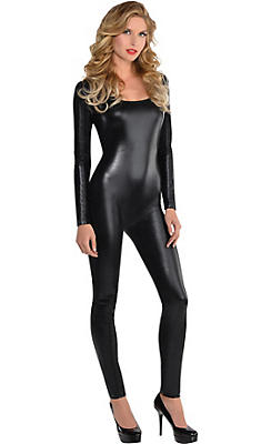 Adult Liquid Black Catsuit