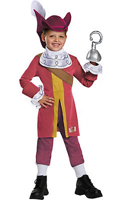 Toddler Boys Captain Hook Costume Deluxe - Peter Pan