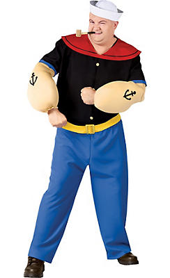 Adult Popeye Costume Plus Size