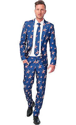Adult USA! American Flag Suit