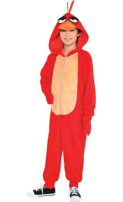 Party City Halloween Costumes For Boys boys dark vampire costume Boys Zipster Red Angry Bird One Piece Costume