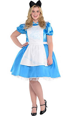 Adult Alice in Wonderland Costume Plus Size - Alice in Wonderland