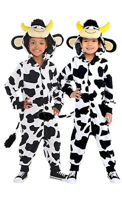 Toddler Boys Zipster Cow One Piece Costume