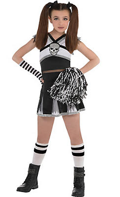 Girls Rah Rah Rebel Cheerleader Costume