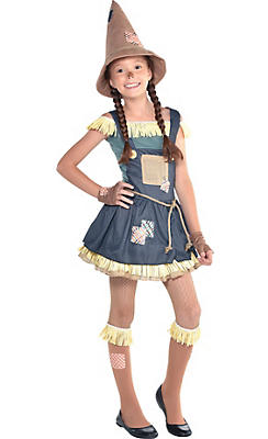 Girls Scarecrow Costume - The Wizard of Oz