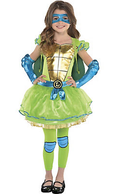 Little Girls Leonardo Costume - Teenage Mutant Ninja Turtles