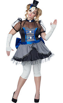 Adult Twisted Doll Costume Plus Size
