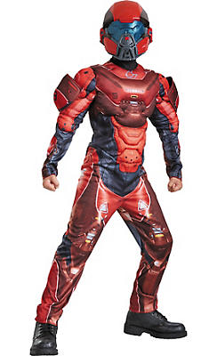 Boys Red Spartan Muscle Costume - Halo