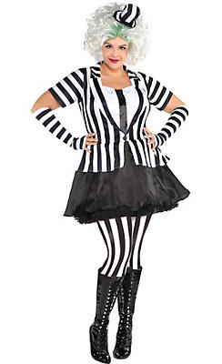 Adult Mrs. Beetlejuice Costume Plus Size