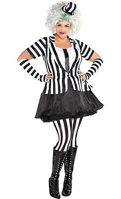 Adult Mrs. Beetlejuice Costume Plus Size