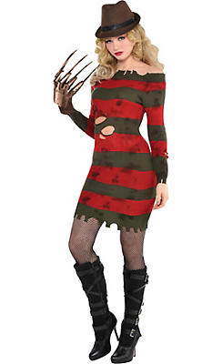 womens miss krueger costume a nightmare on elm street - Halloween Cotsumes