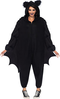 Adult Black Bat One Piece Costume