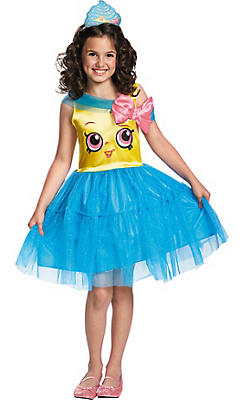 Girls Cupcake Queen Costume - Shopkins