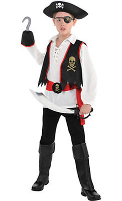 Boys pirate costumes halloween pirate costumes for kids for Quick halloween costumes for toddlers