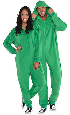 Adult Zipster Green One Piece Costume