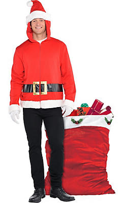Adult Santa Hoodie Costume