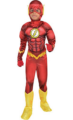 boys the flash muscle costume dc comics new 52 - Clearance Halloween Costumes Kids