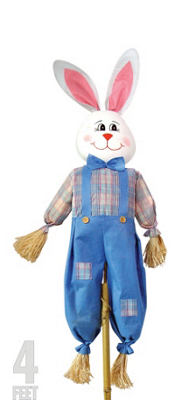 Easter Bunny Scarecrow