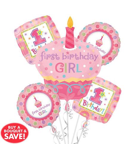 1st Birthday Girl Balloons - Party City