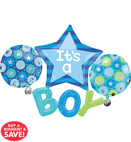 blue stroller baby shower party supplies party city