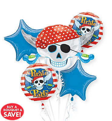 Pirate's Treasure Balloon Bouquet 5pc