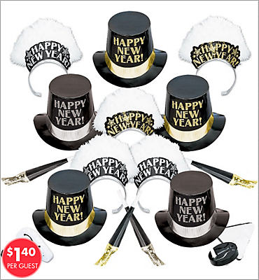 Elegance New Years <span class=messagesale><br><b>Party Kit For 10</b></br></span>
