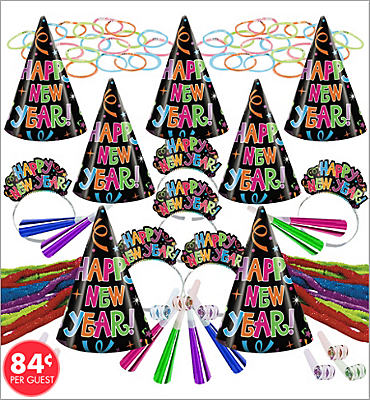 Midnight Glow New Years <span class=messagesale><br><b>Party Kit For 25</b></br></span>