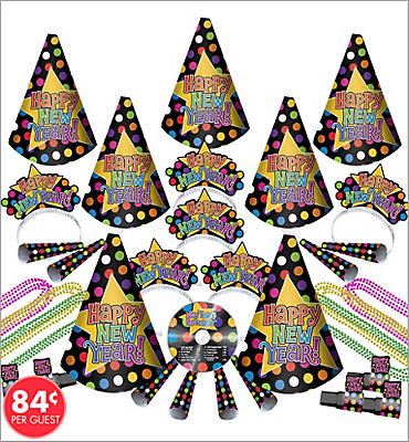 Music CD New Years <span class=messagesale><br><b>Party Kit For 25</b></br></span>