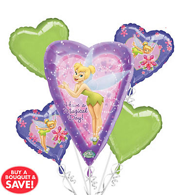 Tinker Bell Birthday Balloon Bouquet 5pc
