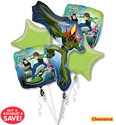 Ben 10 Birthday Balloon Bouquet 5pc