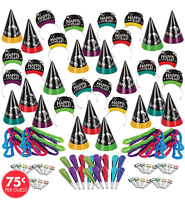 Simply Stated New Years <span class=messagesale><br><b>Party Kit For 200</b></br></span>