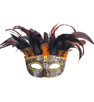 Animal Instinct Feather Masquerade Mask