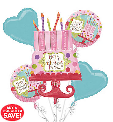 Sweet Stuff Balloon Bouquet 5pc