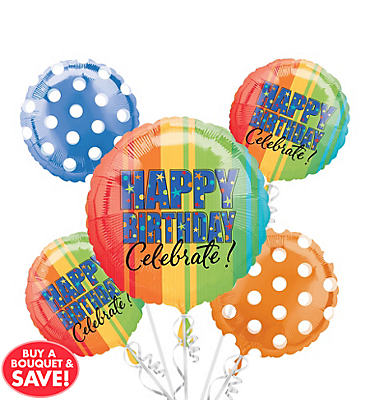 A Year to Celebrate Balloon Bouquet 5pc