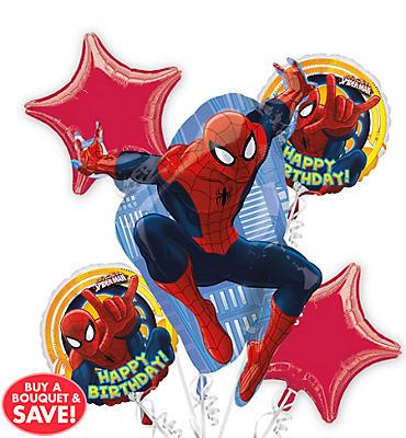 Spider-Man Balloon Bouquet 5pc