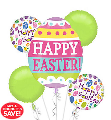 Easter Eggs Balloon Bouquet 5pc
