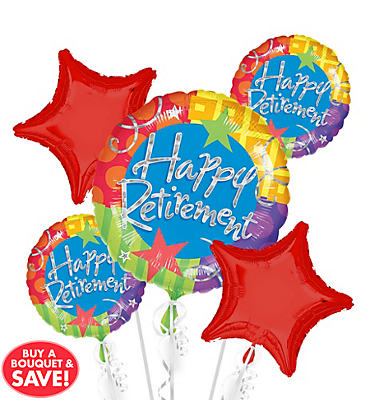 Retirement Balloon Bouquet 5pc