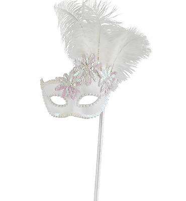 Venetian Feather Stick Mask