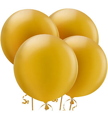 Gold Pearl Balloons 4ct