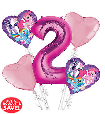 My Little Pony 2nd Birthday Balloon Bouquet 5pc