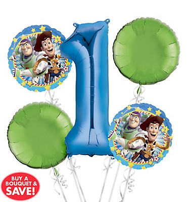 Toy Story 1st Birthday Balloon Bouquet 5pc