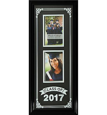 Black Class of 2016 Silk Screened Graduation Photo Frame