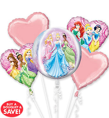 Disney Princess Balloon Bouquet 5pc - Orbz