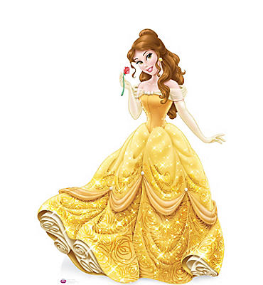 Belle Life-Size Cardboard Cutout - Beauty and the Beast