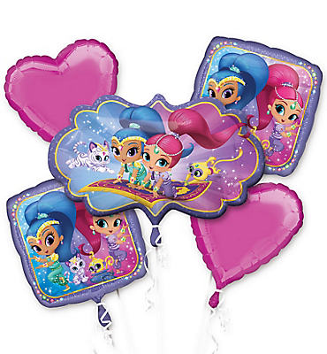 Shimmer and Shine Balloon Bouquet 5pc