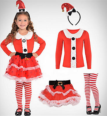 Girls Santa Wearables
